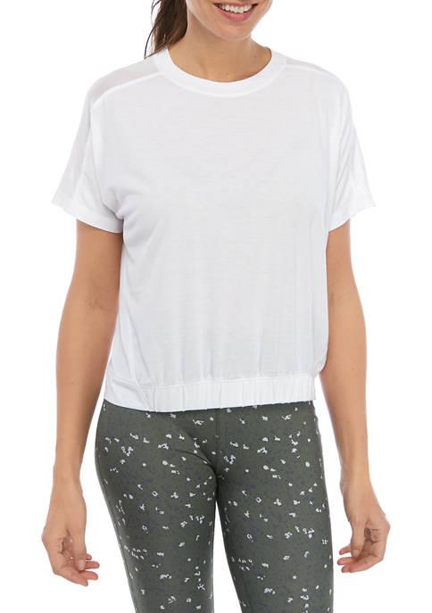 Short Sleeve Cinched Hem T-Shirt