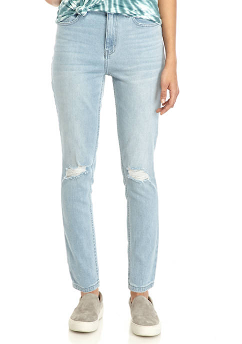 Calvin Klein Jeans Womens Knee Rip High Rise