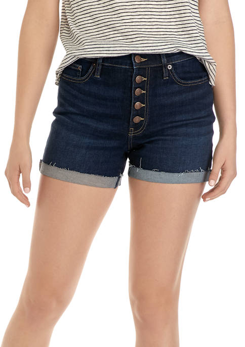 Calvin Klein Jeans Womens High Rise Frayed Roll