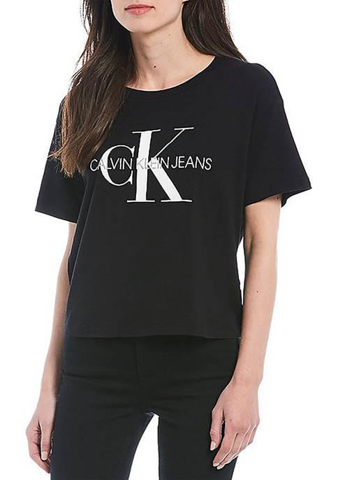 Calvin Klein Jeans Foil Monogram Logo Short Sleeve