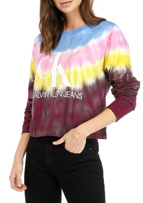 Calvin Klein Jeans Womens Paradise Tie Dye Long