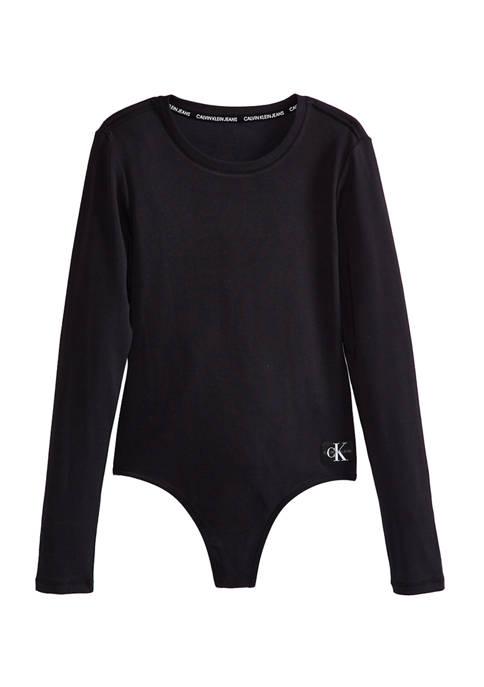 Calvin Klein Jeans Long Sleeve Crew Neck Bodysuit