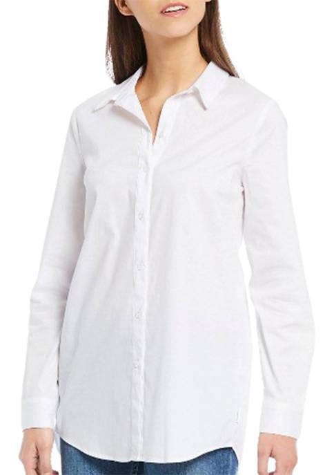 Calvin Klein Jeans Button Front Shirt with Split