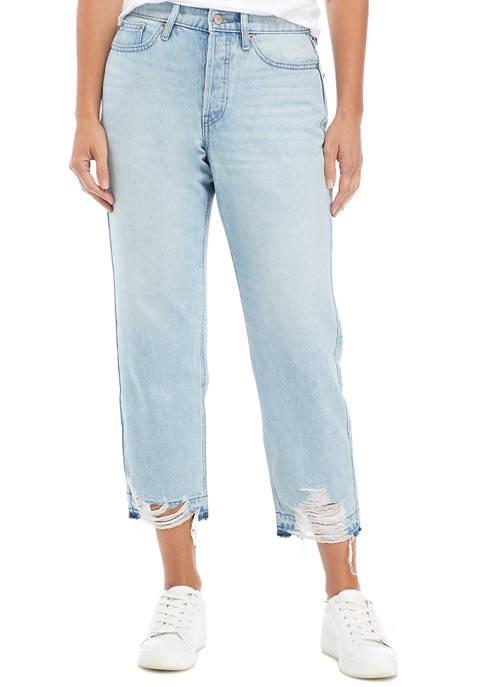 Calvin Klein Jeans High Rise Straight Leg Cropped