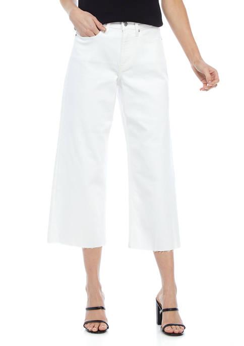 Calvin Klein Jeans High Rise Cropped Wide Leg