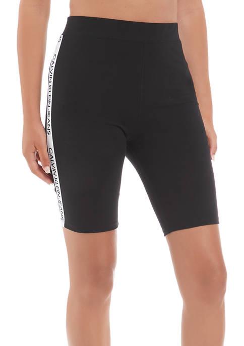 Calvin Klein Jeans Logo Tape Graphic Bike Shorts