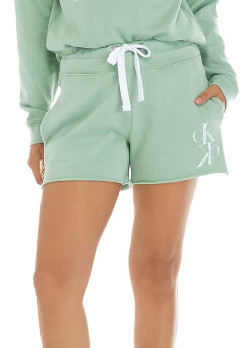 Calvin Klein Jeans Slub Logo Washed Shorts