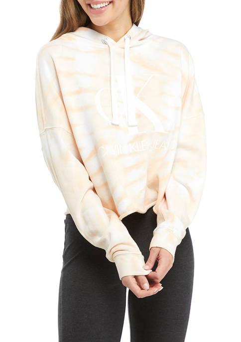Calvin Klein Jeans Monogram Logo Tie Dye Hoodie
