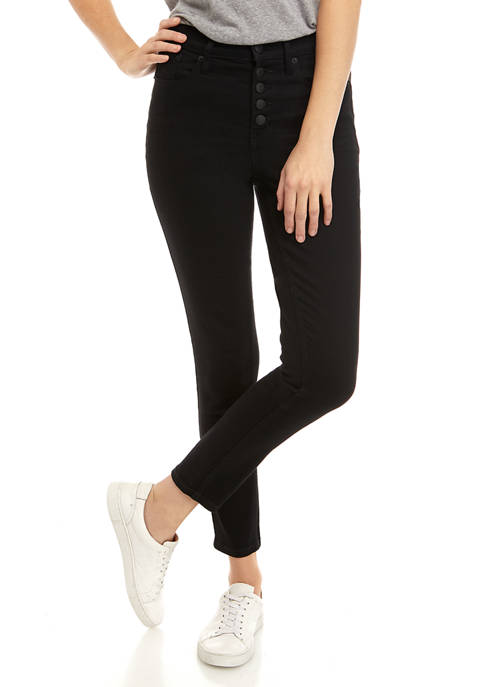 Womens High Rise Skinny Jeans