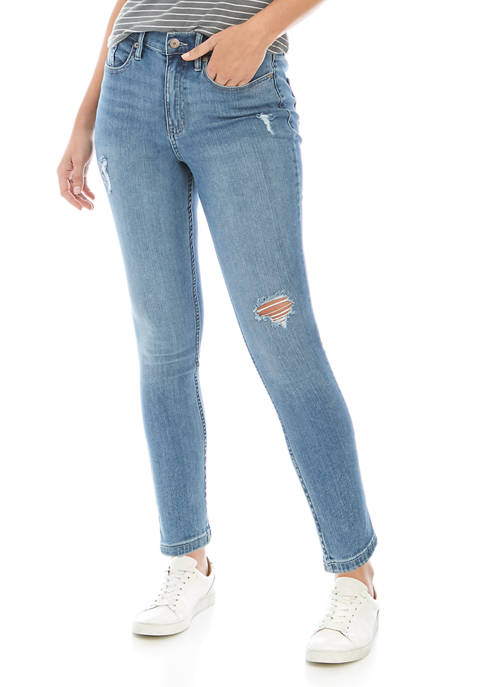 Calvin Klein Jeans Womens High Rise Skinny Ankle