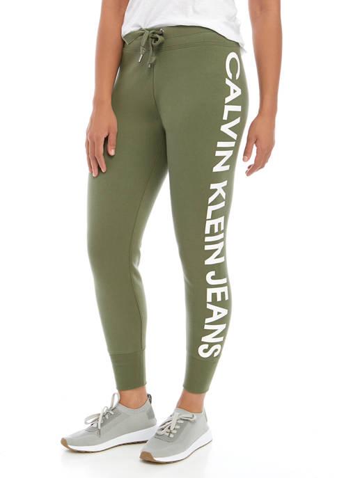 Calvin Klein Jeans Womens Traveling Logo Rib Trim
