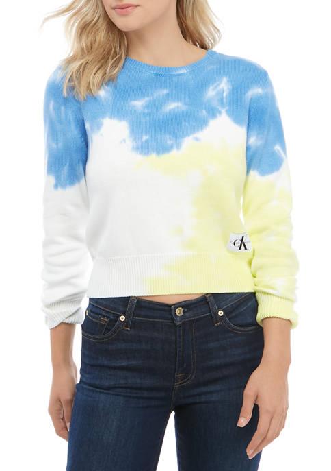 Calvin Klein Jeans Womens Tie Dye Cotton Crew
