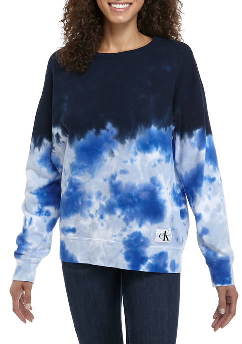 Calvin Klein Jeans Womens High Tide Tie Dye