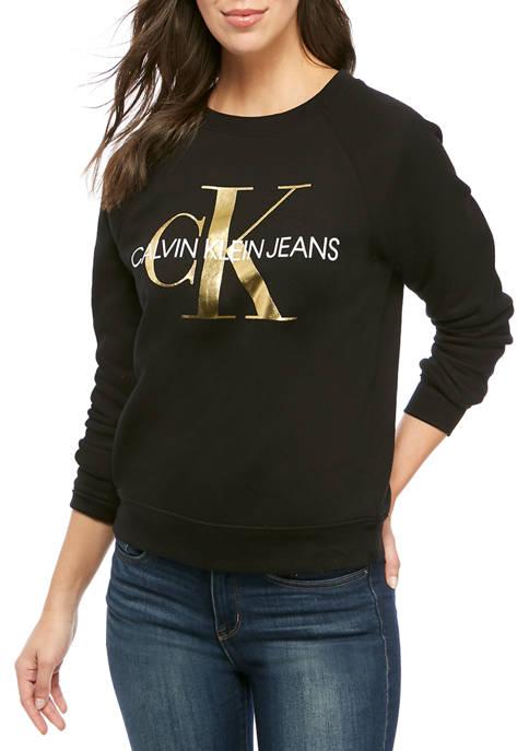 Calvin Klein Jeans Womens Crew Neck Printed Monogrammed