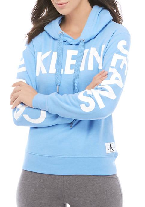Calvin Klein Jeans Womens Rubber Logo Long Sleeve