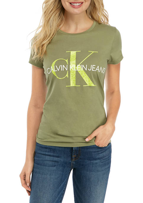Calvin Klein Jeans Womens Scoop Neck Iconic T-shirt