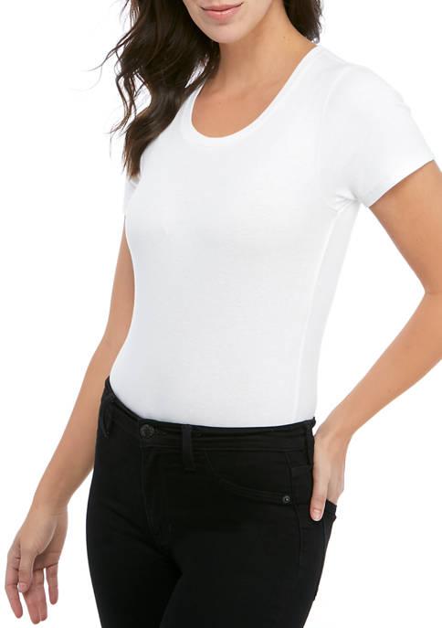 Calvin Klein Jeans Womens Short Sleeve Bodysuit with