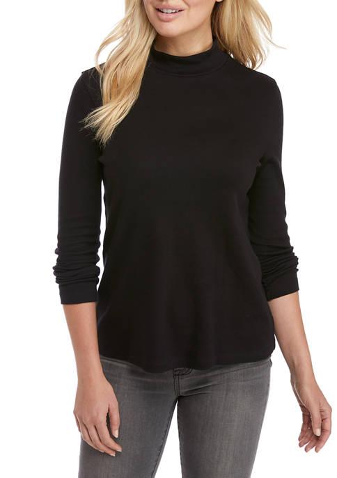 Kim Rogers® Petite Perfectly Soft Long Sleeve Mock