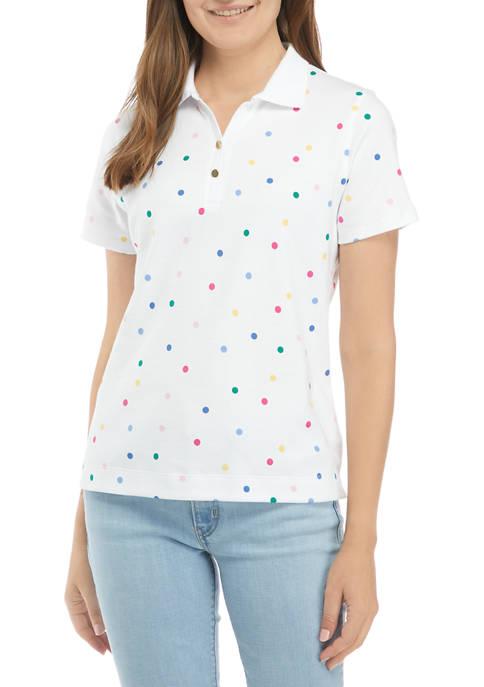 Kim Rogers® Petite Short Sleeve Polka Dot Print