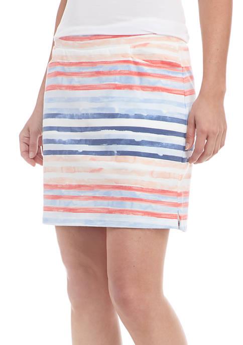 Kim Rogers® Petite Printed Knit Skort