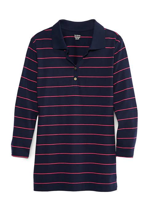 Kim Rogers® Womens 3/4 Sleeve Polo