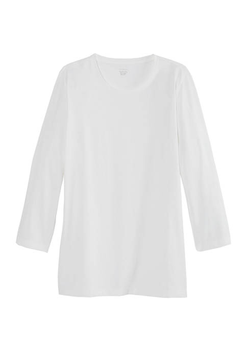 Womens 3/4 Sleeve Solid T-Shirt