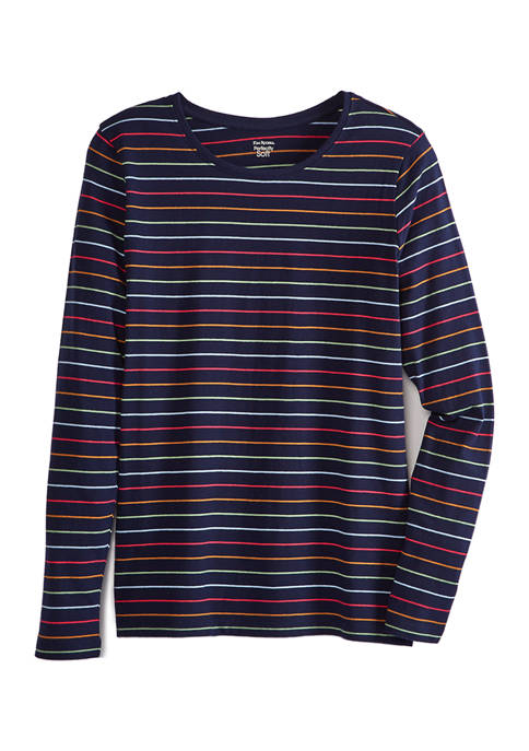 Womens Long Sleeve Striped Top