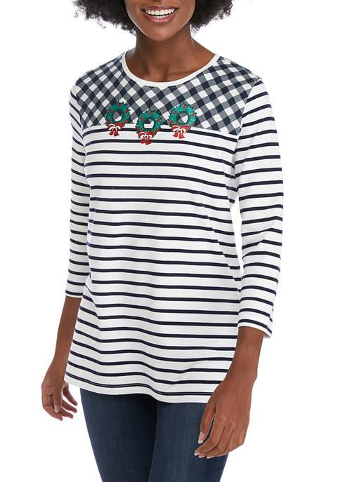 Kim Rogers® Womens Printed Crew Neck Graphic T-Shirt