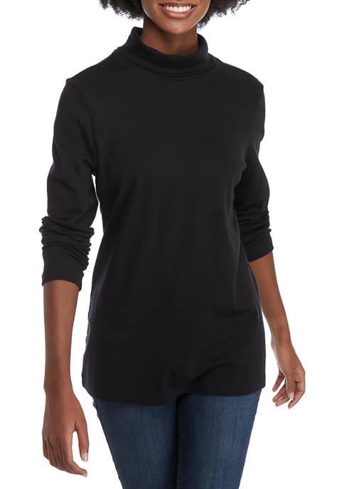 Kim Rogers® Womens Long Sleeve Turtleneck T-Shirt