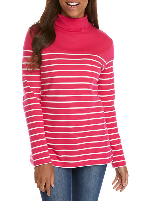 Kim Rogers® Womens Long Sleeve Turtleneck Shirt