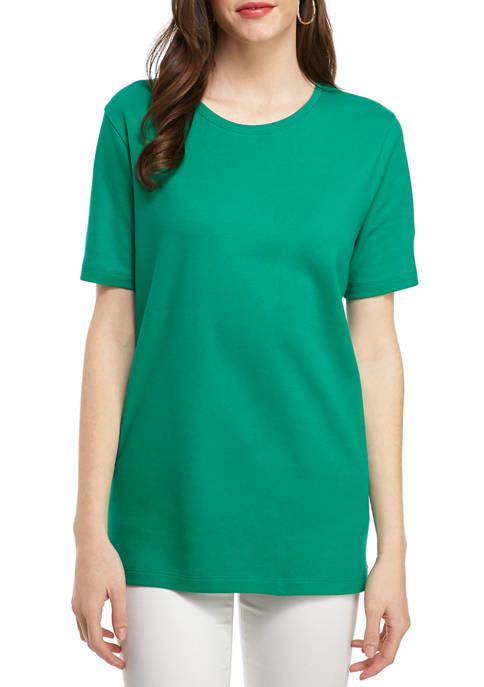 Womens Perfectly Soft Short Sleeve Crew Neck T-Shirt