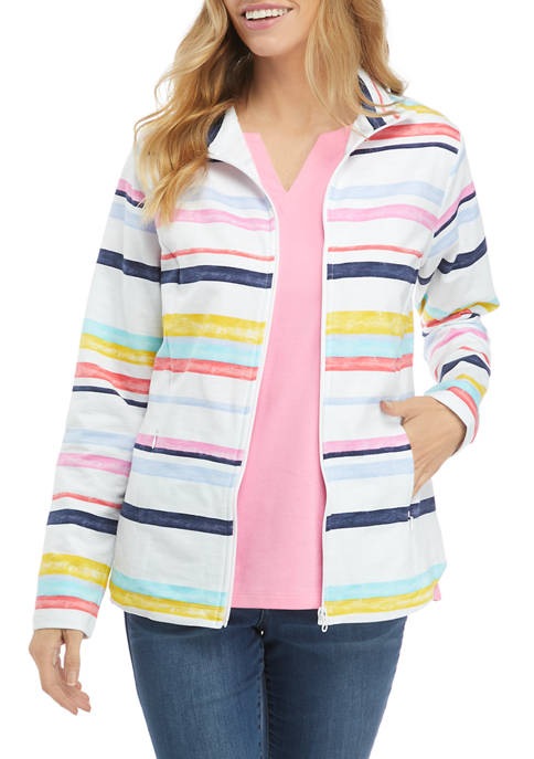 Kim Rogers® Womens Long Sleeve Mock Neck Jacket