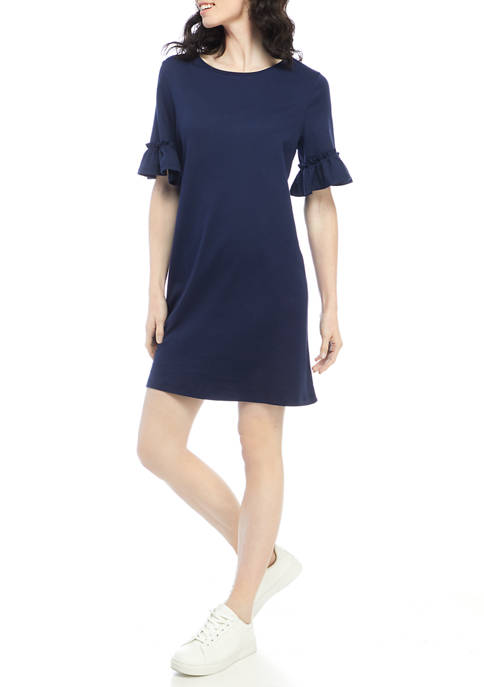 Kim Rogers® Womens Elbow Bell Sleeve Dress
