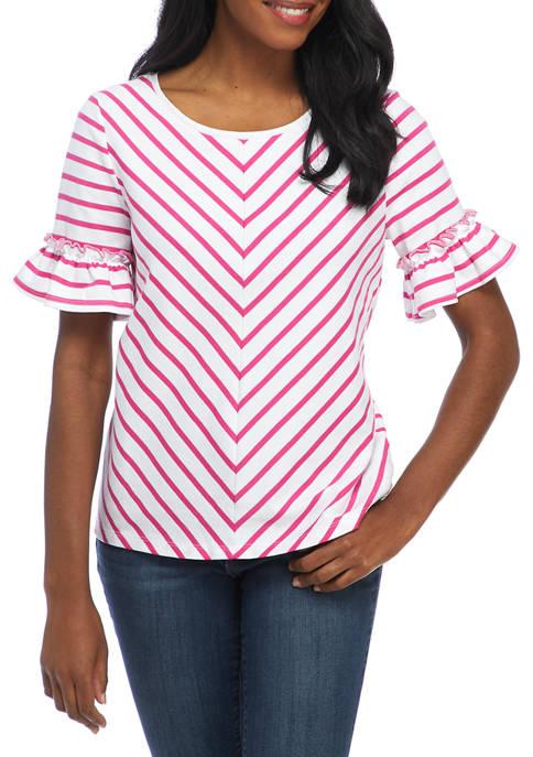Kim Rogers® Womens Bell Sleeve Top