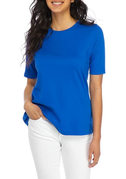 Kim Rogers® Womens Elbow Sleeve Fashion T-Shirt