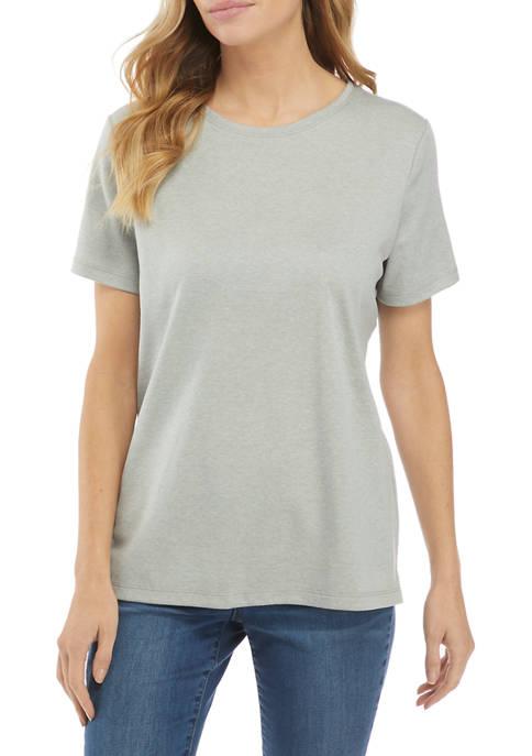 Kim Rogers® Womens Short Sleeve Casual Top