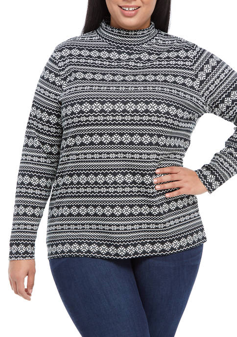 Kim Rogers® Plus Size Perfectly Soft Long Sleeve