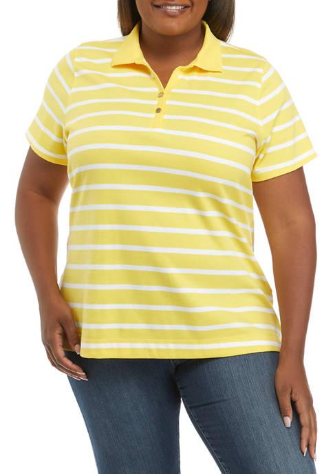 Kim Rogers® Plus Size Short Sleeve Polo Shirt