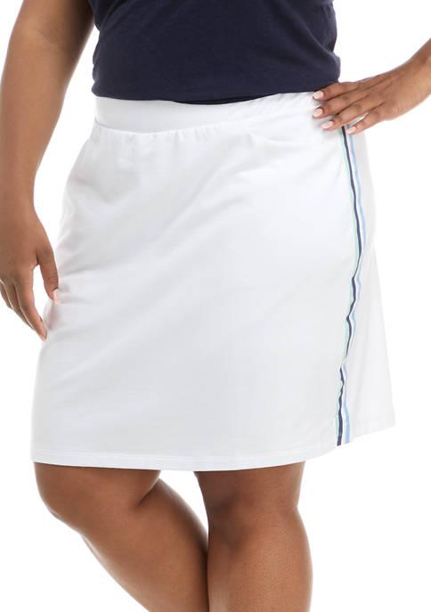 Kim Rogers® Plus Size Printed Knit Skort