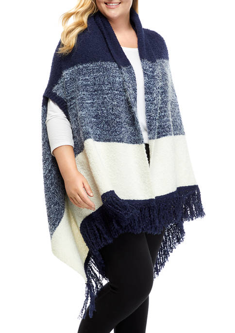 New Directions® Studio Plus Size Fashion Poncho