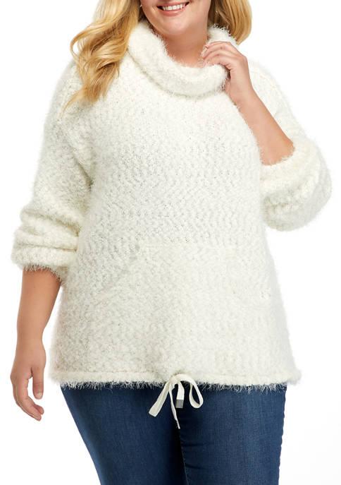 New Directions® Studio Plus Size Eyelash Lurex® Sweater