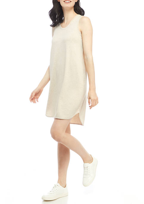Studio Womens Sleeveless Baby Terry Dress