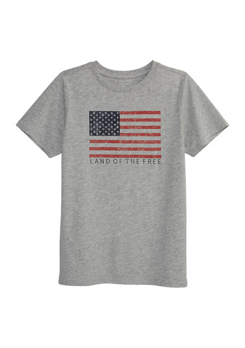 Liberty Park Kids Short Sleeve Flag Graphic T-Shirt