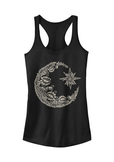 Chin-Up Juniors Lace Moon Tank Top