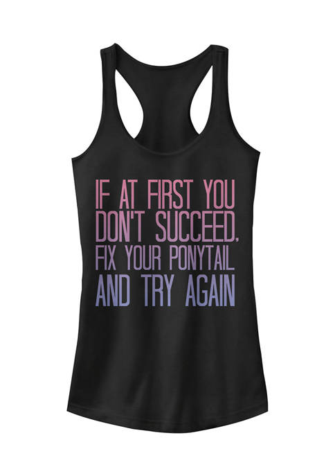 Chin-Up Juniors Fix That Ponytail Graphic Tank Top