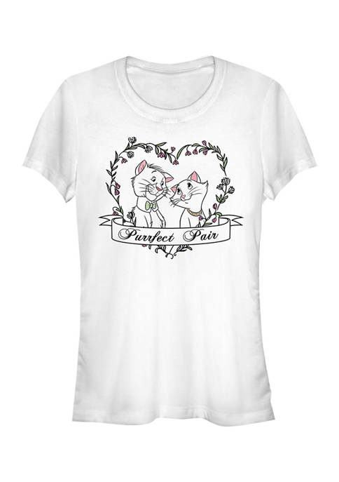 Juniors Licensed Disney Duchess And Omalley Purrfect T-Shirt