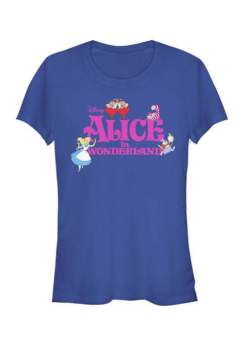 Alice in Wonderland Juniors Licensed Disney Wonderland T-Shirt