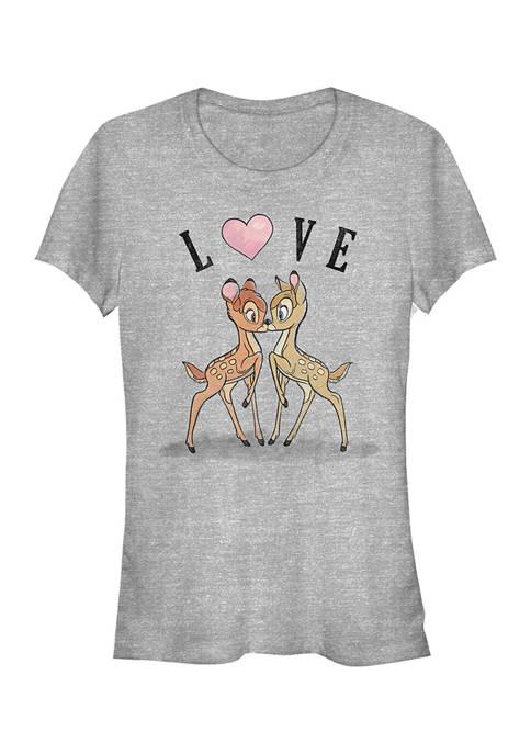Juniors Licensed Disney Bambi Love T-Shirt