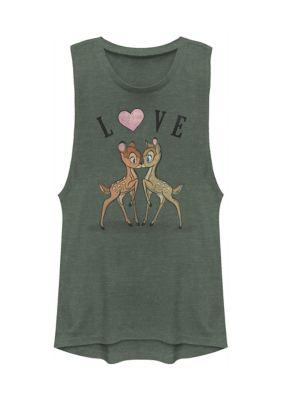 Womens Juniors Licensed Disney Bambi Love Tank Top