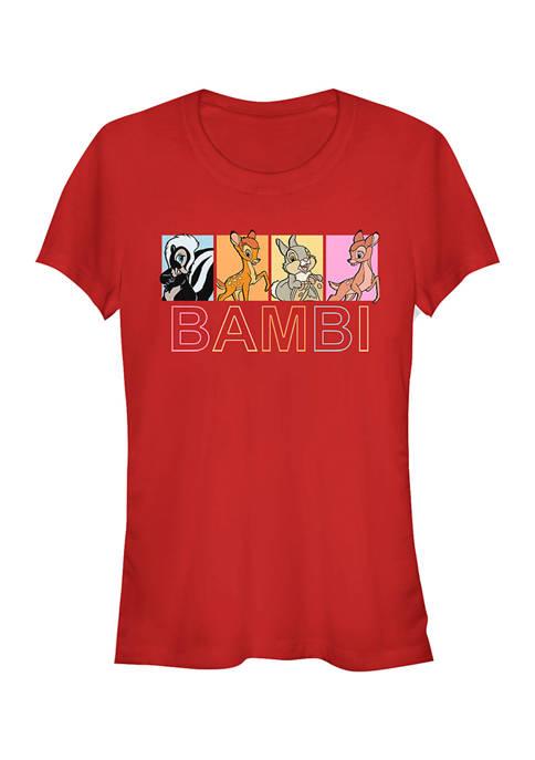 Juniors Licensed Disney Bambi Characters Box Up T-Shirt